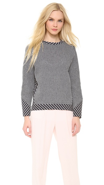 Thakoon Long Sleeve Pullover - Navy/White at Shopbop