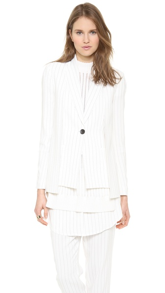 Thakoon Button Front Blazer - Ivory/Black at Shopbop