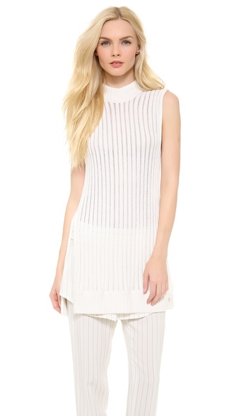 Thakoon Floating Rib Knit Tunic - Ivory at Shopbop