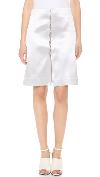 Thakoon Jewel Embroidered Skirt - Silver at Shopbop