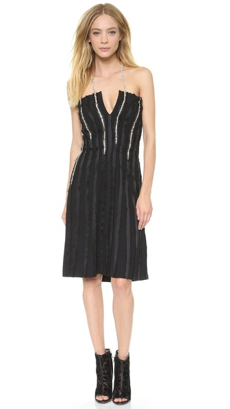 Thakoon Jewel Seamed Sleeveless Dress - Black at Shopbop