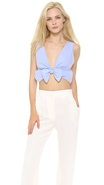 Thakoon Bubble Hem Bra Top