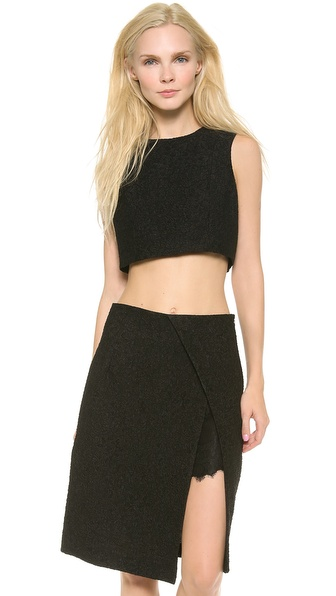 Thakoon Cropped Shell - Black at Shopbop