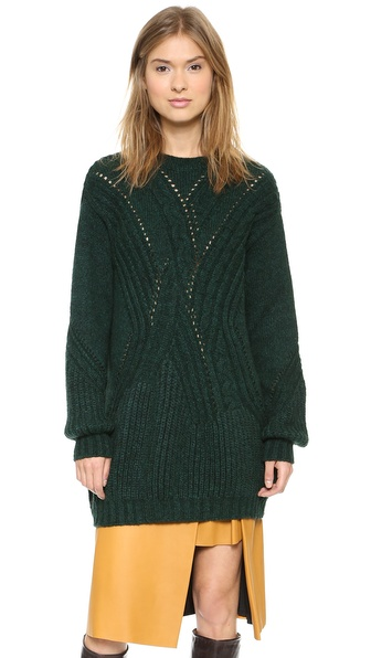 Thakoon Crew Neck Tunic Sweater