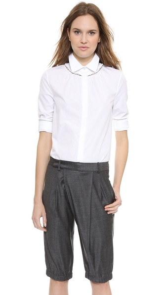 Thakoon Jewel Trim Shirt - White at Shopbop