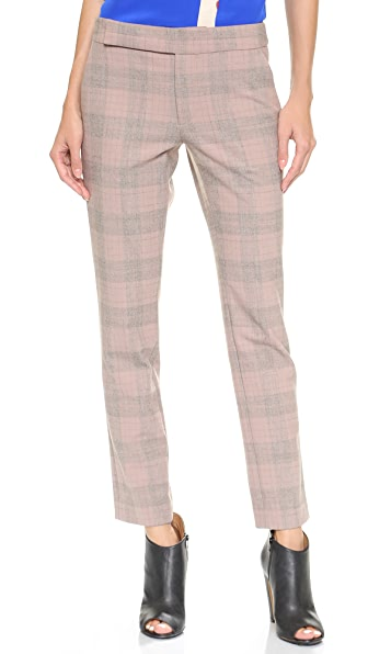 Thakoon Plaid Slim Ankle Pants