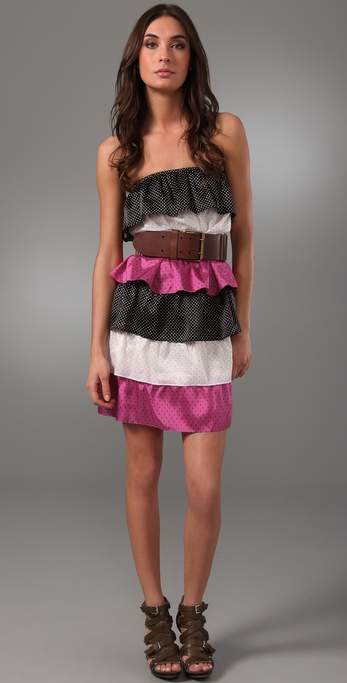 Thayer Spice Tiered Strapless Dress