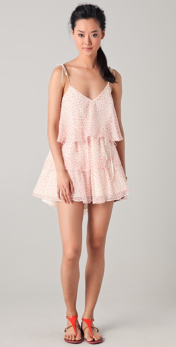 Thayer Chiffon Tiered Ruffle Dress