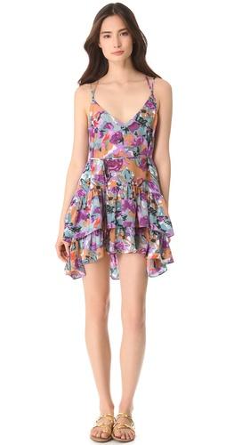 Thayer Crisscross Ruffle Dress
