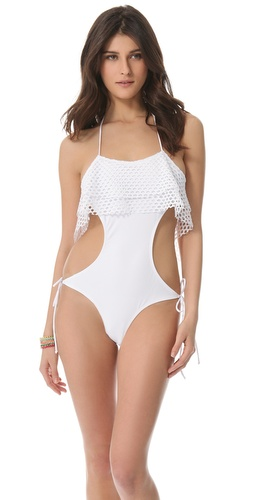 Shop Thayer Lace Up One Piece Swimsuit and Thayer online - Apparel, Womens, Swim, Swim,  online Store