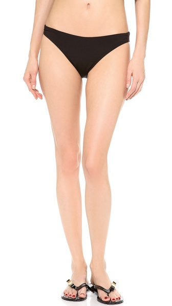 Shop Thayer online and buy Thayer Knot Back Bikini Bottoms Black - A knot details the back of these Thayer bikini bottoms. Lined. 78% nylon/22% spandex. Hand wash. Imported, Colombia. Available sizes: L,M,S,XS