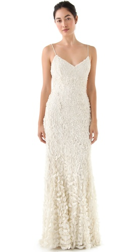 Theia Sleeveless Petal Gown