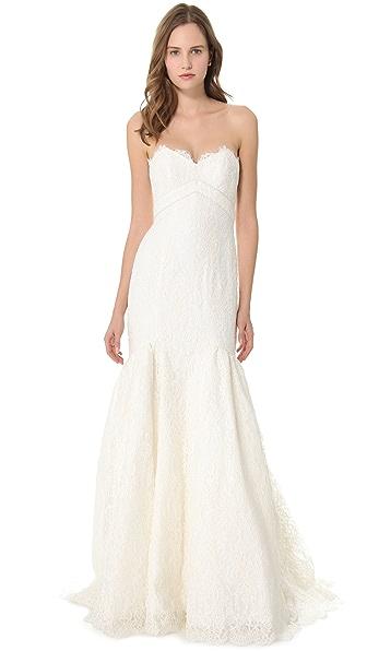 Theia Lace Mermaid Dress