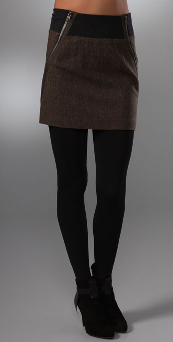 Theory Gretchyn Stretch Tweed Skirt