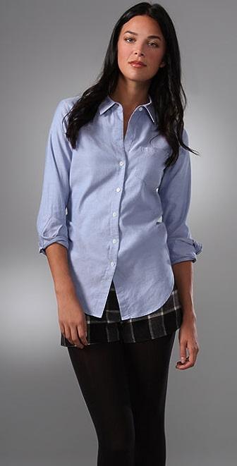 Theory Nikala Collared Shirt with Pocket