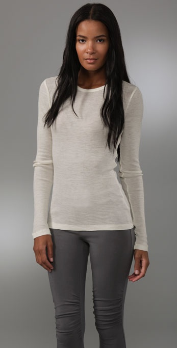 Theory Jaken Crew Neck Top