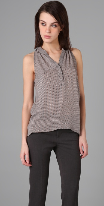 Theory Jillisa Retro Dot Blouse