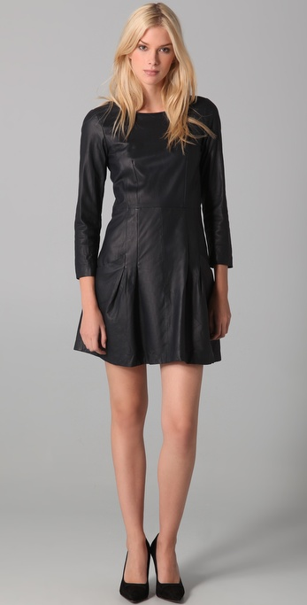 Theory Salindra Light Leather Dress