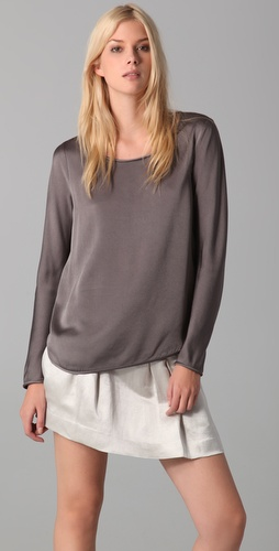 Theory Nishra Long Sleeve Blouse