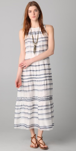 Theory Izella Tiered Maxi Dress