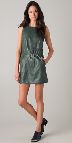 Theory Delda Leather Dress