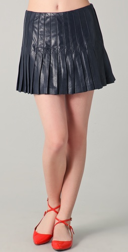 Theory Leather Oleksa L Skirt