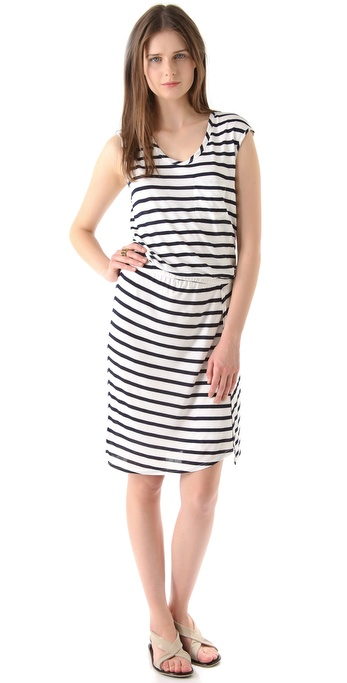 Theory Genessia Fisher Stripe Dress