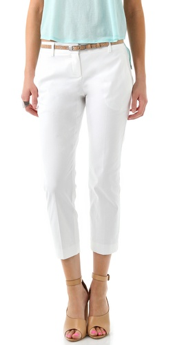 Theory Yanette C Stretch Canvas Pants