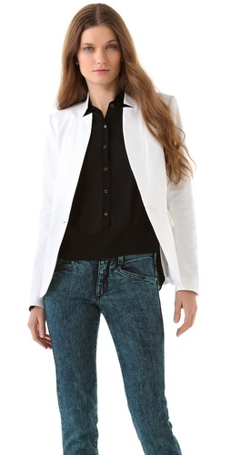 Theory Italeen Stretch Canvas Blazer