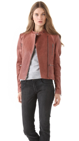 Theory Macha Juno Leather Jacket