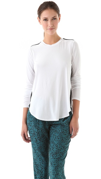 Theory Alania C Ribbed Top