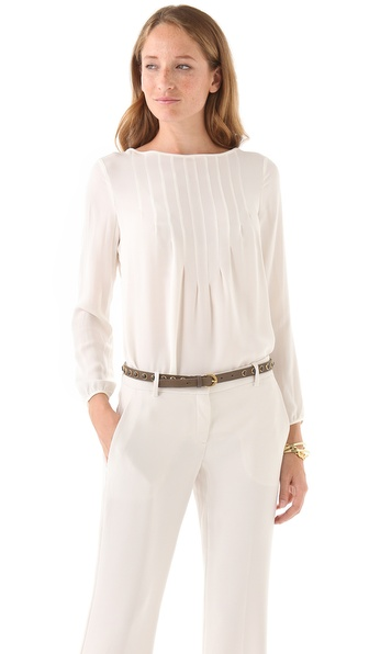 Theory Sepia Cleopatra Blouse