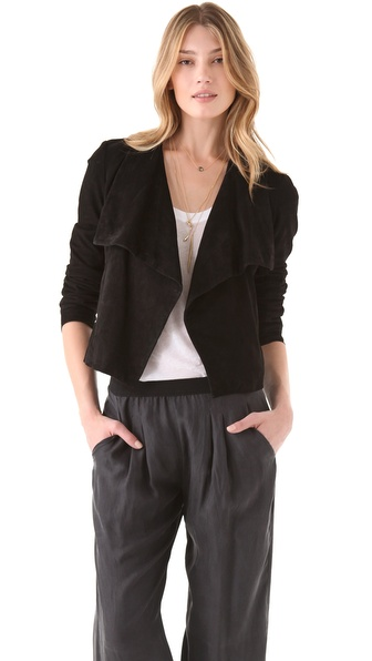 Theory Kanya L Suede Jacket