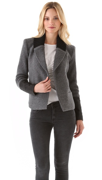 Theory Ponette Jacket with Leather