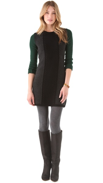 sweater dress with leggings or tights