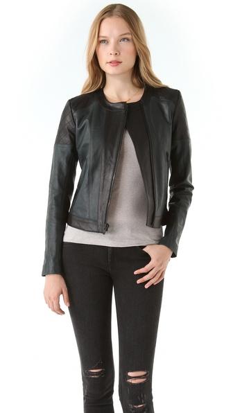 Theory Maisie Leather Jacket