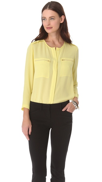 Theory Brundia Silk Top