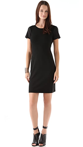 Theory Leilana Dress with Leather