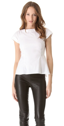 Theory Elili Peplum Top at Shopbop.com