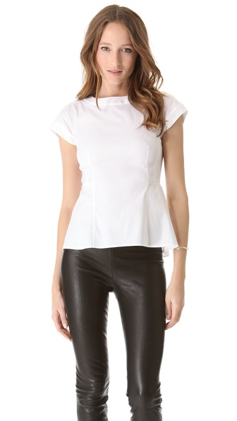 Theory Elili Peplum Top