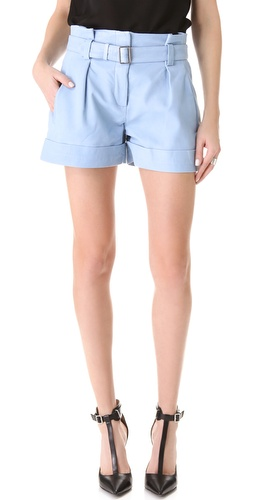 Theory Ettie Leather Shorts at Shopbop.com