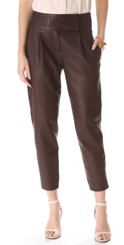 Theory Kina Leather Trousers at Shopbop.com