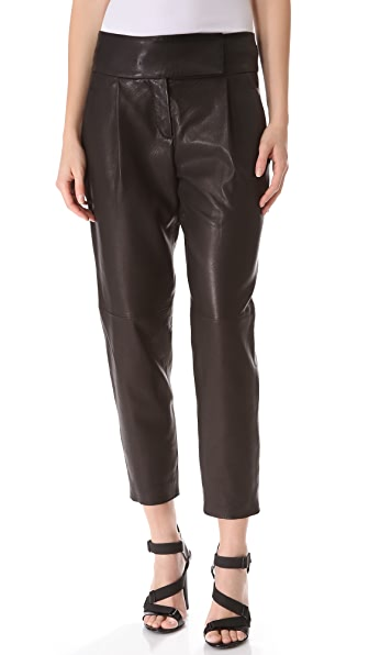 Theory Kina Leather Trousers
