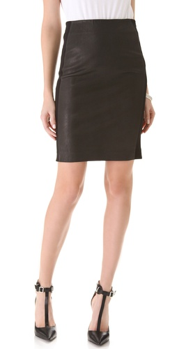 Theory Brookelle Leather Skirt at Shopbop.com