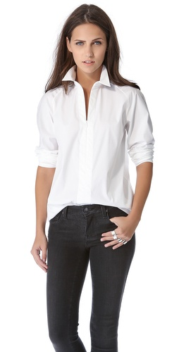 Theory Bida Long Sleeve Blouse at Shopbop / East Dane