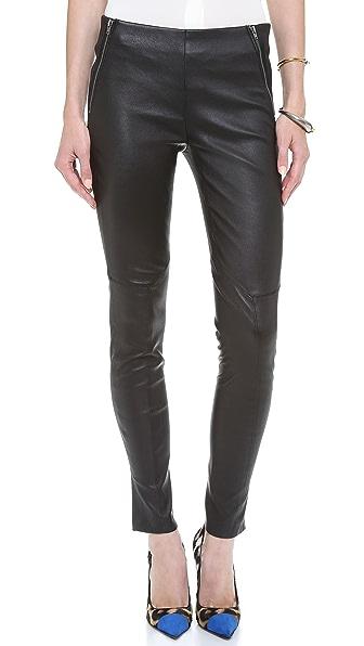 Theory Keil Leather Pants