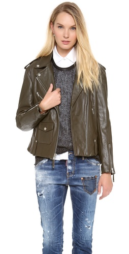 Theory Dalayan Leather Jacket at Shopbop / East Dane
