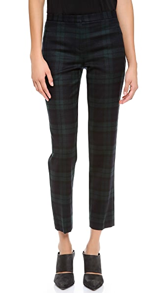 Theory Fia Plaid Pants