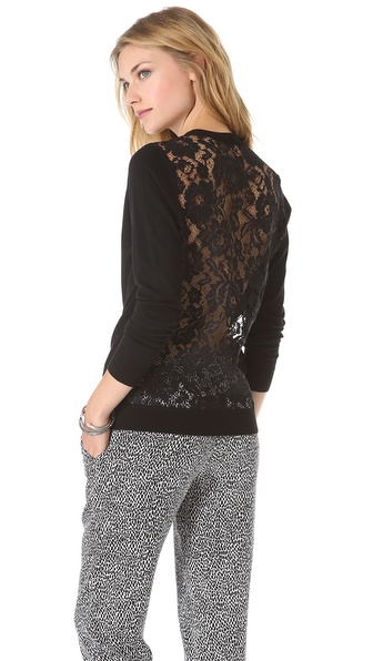 Theory Jaidyn Lace Pullover