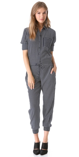Theory Daranda Cross Grid Jumpsuit at Shopbop / East Dane